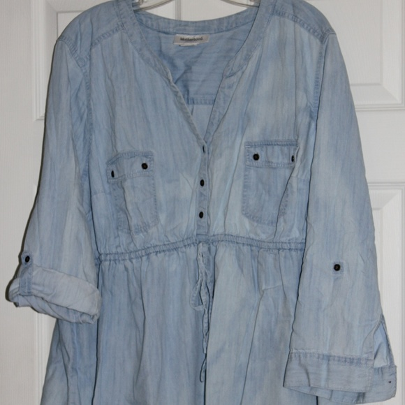 Motherhood Maternity Tops - Motherhood Maternity Denim Tunic Top 2X
